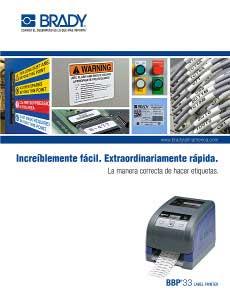 Folleto de la impresora de etiquetas BBP33