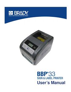 BBP33 Printer User Manual