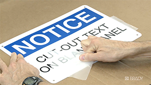 How to transfer cut text to a surface for your BBP37 Printer