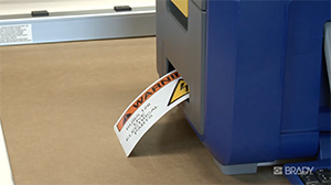 How to create safety signs on your BBP35 or BBP37 printer
