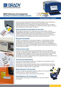 BBP37 Multicolour & Cut Label Printer sellsheet in Dutch