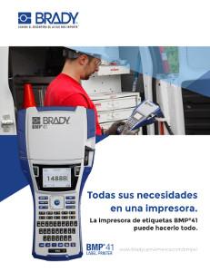 Folleto de la impresora de etiquetas BMP41