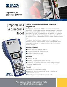 Hoja informativa de la nueva impresora portátil BMP41