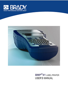 BMP41 User Manual