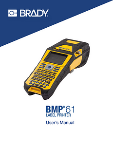 BMP61 User Guide - English