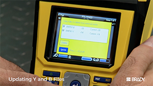 How to update firmware and Y & B files on your Brady BMP®61 Label Printer