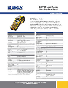BMP61 Spec Sheet
