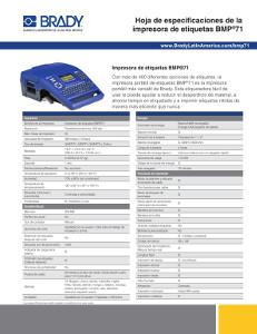 Especificaciones BMP71