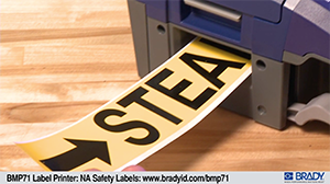 BMP71 Printer safety label