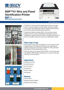 BSP41 Printer Sellsheet - English