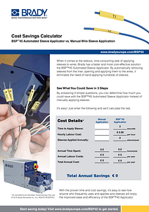 BSP Cost Calculator sheet Europe - English