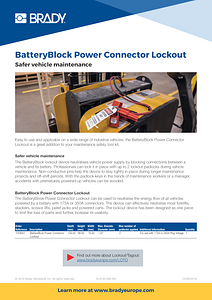 BatteryBlock Power Connector infosheet - English