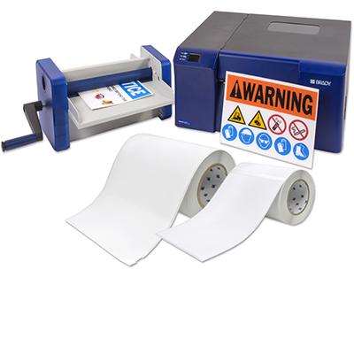 Set für stabile Schilder auf Tafeln für den BradyJetJ5000-J5000-Rigid Kit