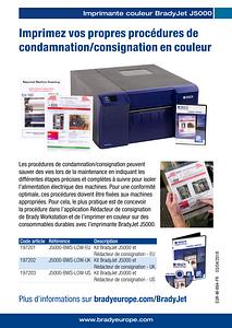BradyJet J5000 Lockout Writer sellsheet - French