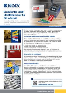 BradyPrinter i3300 Sellsheet Europe - German