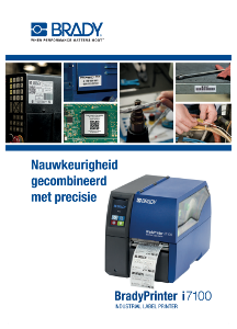 BradyPrinter i7100 Brochure - Dutch