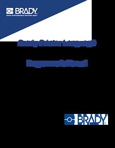 Brady's Printer Language Programmer Manual
