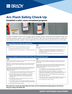 Arc Flash Safety Check Up