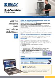 Brady Workstation Print Partner Sellsheet - Dutch