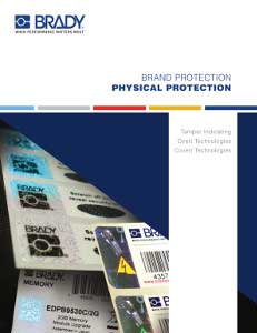 Brady Brand Protection Physical Technologies Brochure