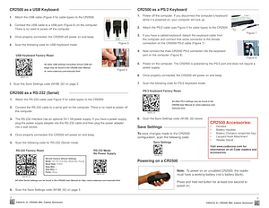 Code Reader 2500™ - Cabled Quickstart Guide - English