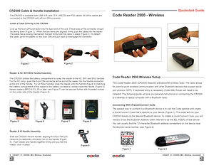Code Reader 2500™ - Wireless Quickstart Guide - English