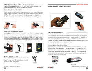 Code Reader 3500™ - Wireless Quickstart Guide - English