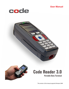 Code Reader 3.0™ Portable Data - User Manual - English
