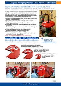 Collapsible Gate Valve Lockout Sellsheet - Dutch