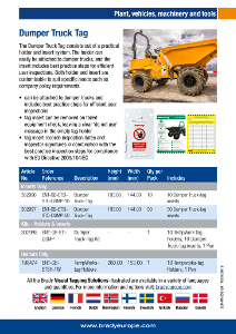 Dumper Truck Tag sell sheet - English