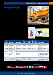 Dumper Truck Tag sellsheet - French
