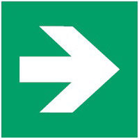 ISO Sicherheitskennzeichnung - Richtungsangabe gerade-PIC A090-300x300-PP-CRD/1