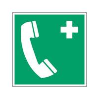 ISO Sicherheitskennzeichnung - Notruftelefon-PIC E004-100x100-PE-ROLL/1