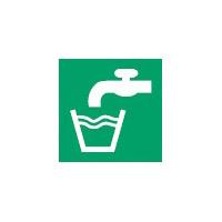 ISO Sicherheitskennzeichnung - Trinkwasser-PIC E015-148x148-PE-CRD/1