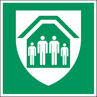 ISO Safety Sign - Protection Shelter