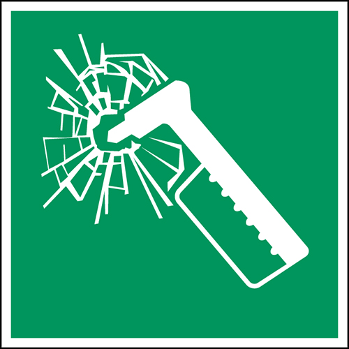 ISO Safety Sign - Emergency hammer