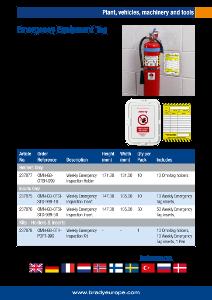 Emergency Equipment Tag sell sheet - Polish