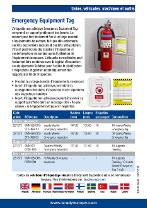 Emergency Equipment Tag sellsheet - French