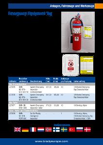 Emergency Equipment Tag sellsheet - German