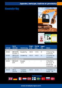 Excavator Tag sell sheet - Dutch