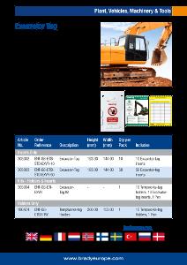 Excavator Tag sell sheet - English