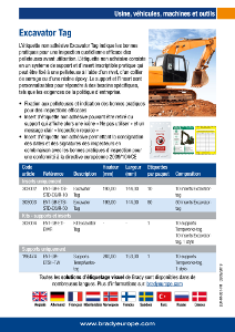 Excavator Tag sell sheet - French