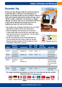 Excavator Tag sell sheet - German