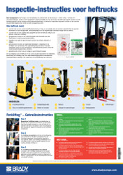 Forklift Inspection Guide poster A2 - Dutch