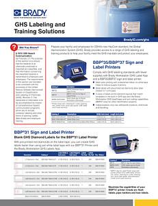 GHS Informational Sheet