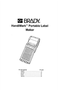 HandiMark Portable Label Maker User Manual