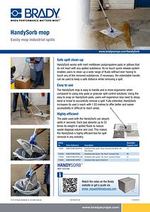 HandySorb sell sheet - English