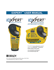 IDXPERT  v2.0 User Manual (FCC class A model) - English