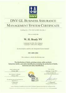 ISO 14001:2004 Certificate Zele - English