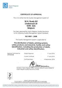 ISO 9001 Certificate - English